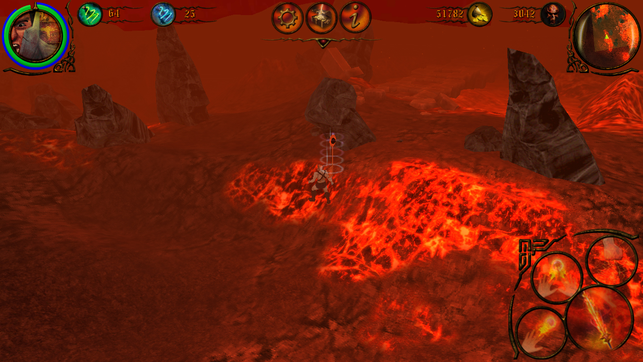 GLOW mobile action rpg Game Lava Level